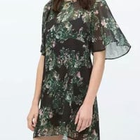 After Hours Dark Green Two Piece Dress