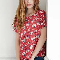 Mixed Floral Crepe Top
