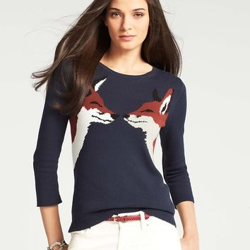 Kissing Fox Sweater
