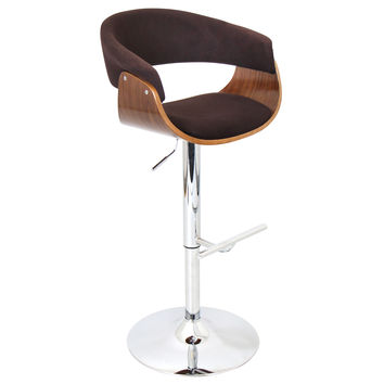 Vintage Mod Bar Stool Walnut/Espresso