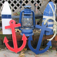 OOAK Reclaimed wood. Wooden Anchor. Beach Decor. Nautical Decor. Home Decor