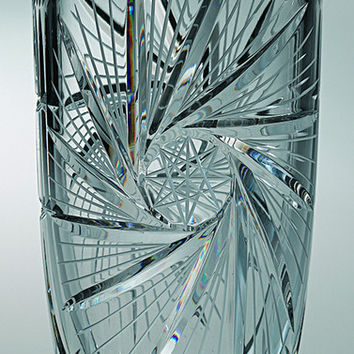 """Majestic Gifts PW-110-8 Hand Cut Crystal Vase, 8""""H"""