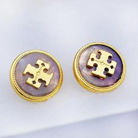 Tory Burch Fashion New Multicolor Natural Stone Personality Earring Women Accessories