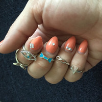 Evil Eye Midi Ring Set