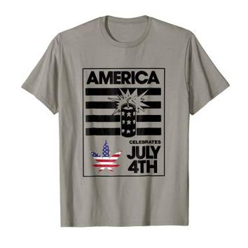 America Celebrates July 4th T-Shirt: Independence Day Tee