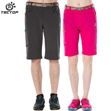 Tectop quick-drying pants male Women thin outdoor quick dry pants summer shorts hiking pants lovers design sunscreen pants