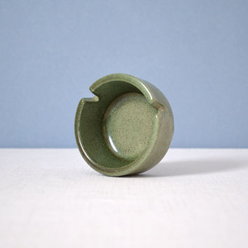 Heath Ceramics Small Green Glaze Ashtray