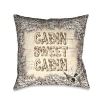 Cabin Sweet Cabin Indoor Decorative Pillow