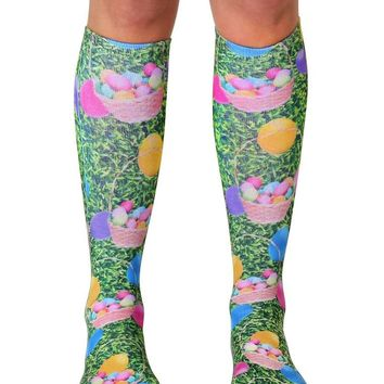 Easter Eggs Knee High Socks