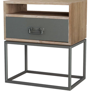 Asta Furniture Simplicity Large Nightstand - Silver
