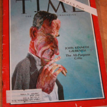 Time Magazine February 16 1968 John Kenneth Galbraith