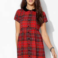 Motel Beatrix Plaid Babydoll Dress - Urban Outfitters