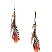 Feathered Tribal Earrings | FOREVER21 - 1000036851