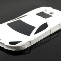 White Cute lovely 3D Car SportsCar SportyCar F1 Man Child Kids Toy Skin Cover Case for Samsung Galaxy S3 S III i9300