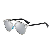 So Real Brow Bar Sunglasses, Silver - Dior