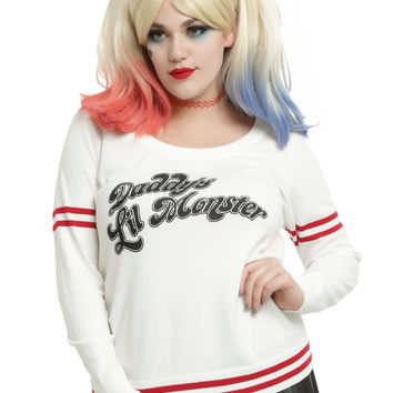 DC Comics Suicide Squad Harley Quinn Daddy's Lil Monster Girls Sweater Plus Size
