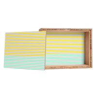 Allyson Johnson Mint And Chartreuse Stripes Storage Box