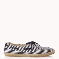 Striped Espadrille Boat Shoes