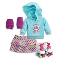 American Girl® Clothing: Roller Skating Set for Dolls + Charm