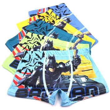 Batman Children Underwear Boys Kids Fashion Cartoon Briefs Boys Boxer Child Underpants Color random