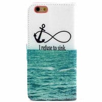 Hight Qulity Infinite Print PU Leather Case Cover Wallet for iPhone 6 / iPhone plus