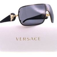 Versace Ve2126 Sunglasses 100281 Gold Polar Gray 0 14 120
