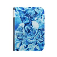 Blue Ice Rose Photo Edit Cases For Kindle from Zazzle.com