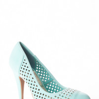 Pointy Toe Squared Cut Out Heels