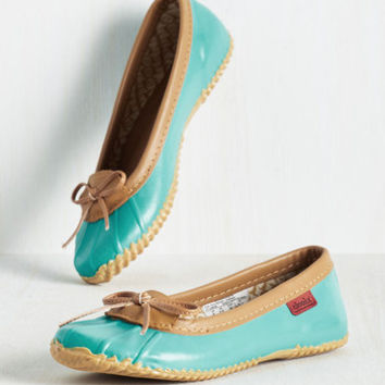 Back in a Splash Rain Shoe in Turquoise