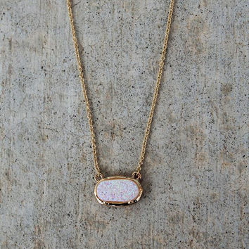 Druzy Charm Necklace