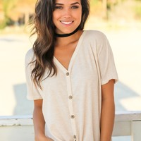 Oatmeal Top with Buttons
