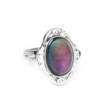 Gypsy Boho Adjustable Oval Color Changing Mood Ring