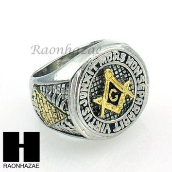 ONETOW US SELLER NEW HOT MENS FREEMASON MASONIC PYRAMID EYE OF HORUS RING KR001S