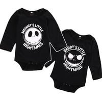 Halloween Skull Newborn Toddler Kid Clothes Mommy and Daddy Baby Boy Girl Long Sleeve Romepr Playsuit Infant Outfit