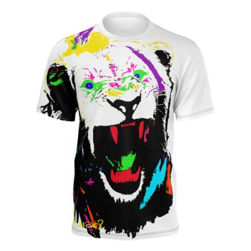 King of The Jungle Lion Men's White T-Shirt (Pima Cotton)