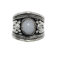 Adjustable Ring Moonstone Ring AA102