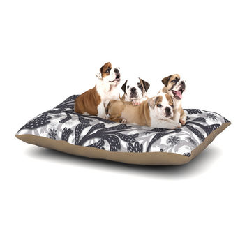 "Akwaflorell ""Snow Houses"" Gray Abstract Dog Bed"