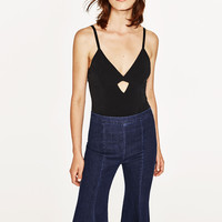 BODYSUIT WITH CROSSED BACK