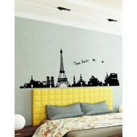Amazon.com: Large I Love Paris Eiffel Tower Sticker Decal for Kids Room Living Room: Baby