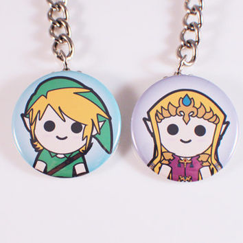 Legend of Zelda Button Keychains