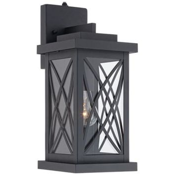"Woodland Park Black 15"" High Outdoor Wall Light - #5Y117 