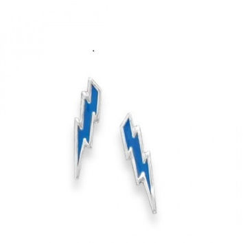 Bolt of Blue Stud Earrings