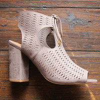 The Burnsed Peep Toe Bootie