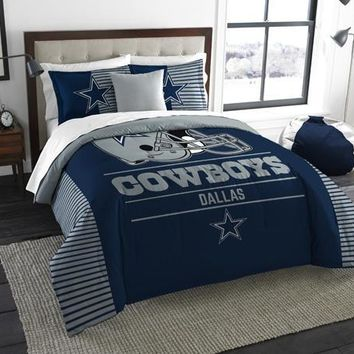 "Dallas Cowboys NFL ""Draft"" King Comforter & Sham Set"