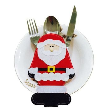 1 Pc Santa Claus Knives And Fork Tableware Holder