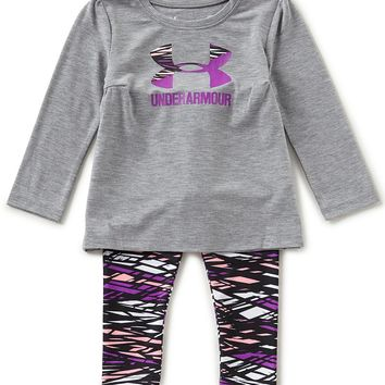 Under Armour Baby Girls 12-24 Months Icon Tee & Printed Leggings Set | Dillards