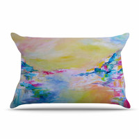 "Ebi Emporium ""Something About the Sea"" Yellow Multicolor Pillow Case"
