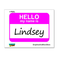 Lindsey Hello My Name Is Sticker