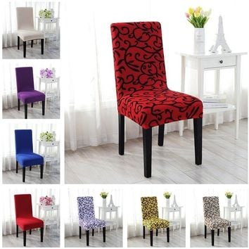 1pcs Spandex Stretch Chair Cover Lycra Cover for Wedding Banquet Anniversary Party Decor(23 Styles)
