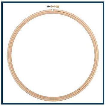 "6"" ROUND WOOD EMBROIDERY HOOP"